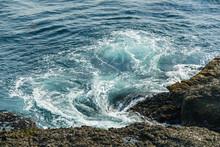 Beautiful Waves At Sea Shore A...