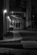 Dark Alleyway, Dimly Lit, With Lines And Diaganols