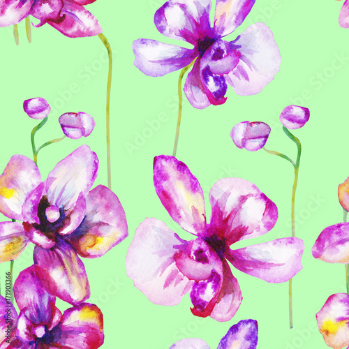 beautiful-original-red-blooming-orchids-watercolor