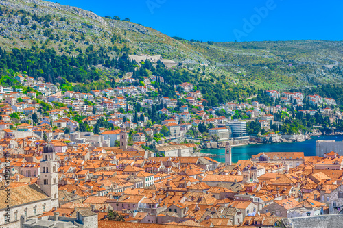 Photo  Dubrovnik cityscape aerial view