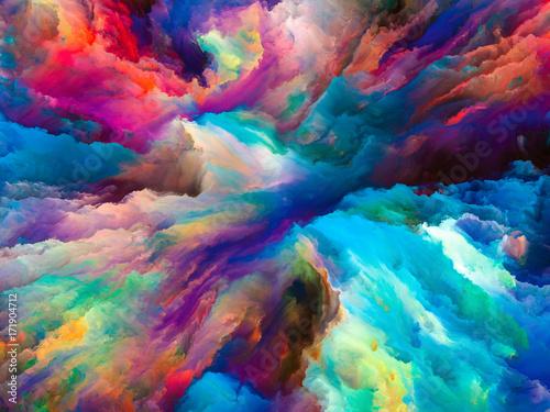 Zdjęcie XXL Wizja surrealistycznej farby