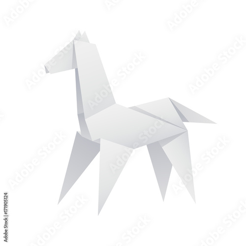 Paper Horse Origami Buy This Stock Vector And Explore Similar