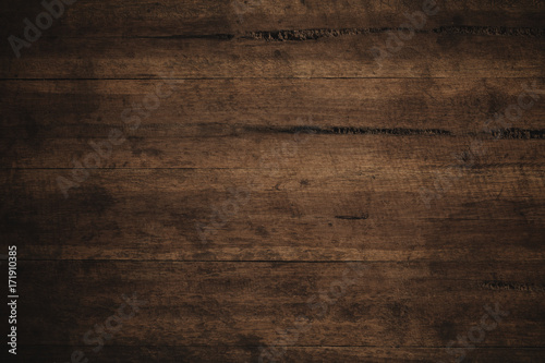 Old grunge dark textured wooden background,The surface of the old brown wood texture - 171910385