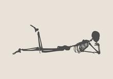 Human Skeleton Posing. Vector ...