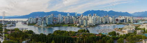 In de dag Canada Panorama of Vancouver B.C.