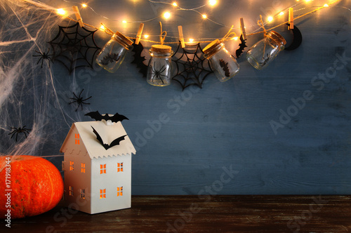 Photo  Halloween holiday concept