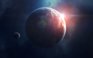 Space art, incredibly beautiful science fiction wallpaper. Endless universe. Elements of this image furnished by NASA