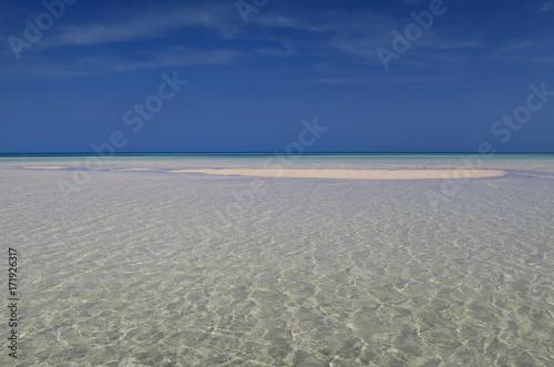 Fotografie, Obraz  Banc de sable d'un lagon de Cuba