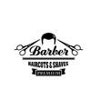 Barber shop symbol or hair salon emblem design