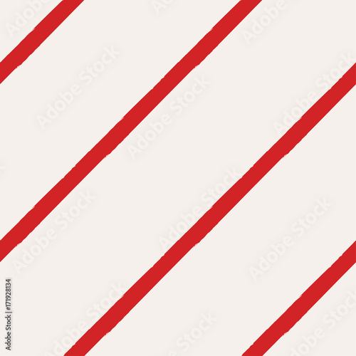 fototapeta na lodówkę Christmas Rough Candy Cane Stripes Seamless Pattern