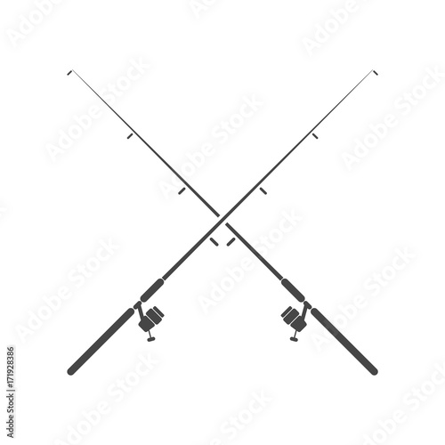 Carta da parati Fishing rod - Illustration