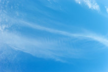 Small And Thin Clouds On The Sky. Natural Background.