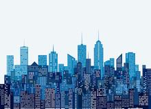 Blue Cityscape Windows