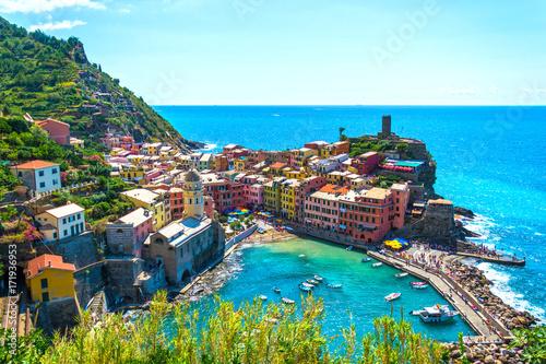 Tuinposter Liguria Vernazza Cinque terre - Liguria