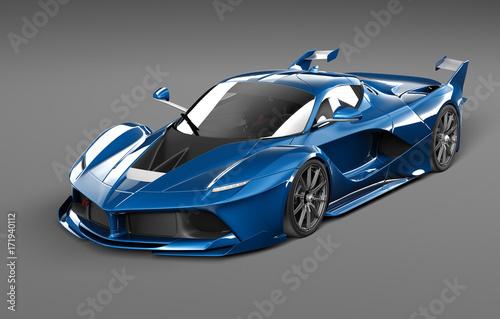 Foto op Canvas Cartoon cars Black Demon concept car