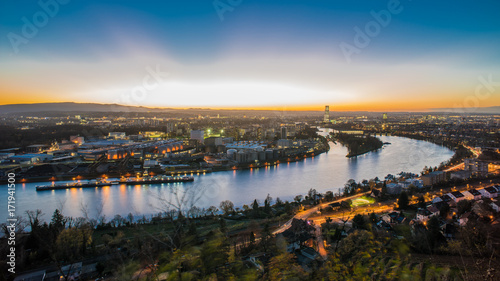 Photo Basel switzerland cityscape