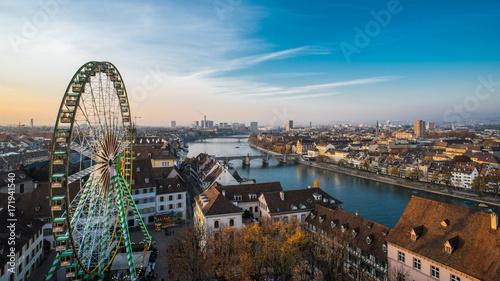 Basel switzerland cityscape Canvas Print
