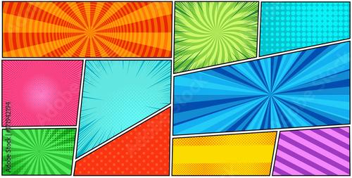 Fotografie, Obraz  Comic book page background