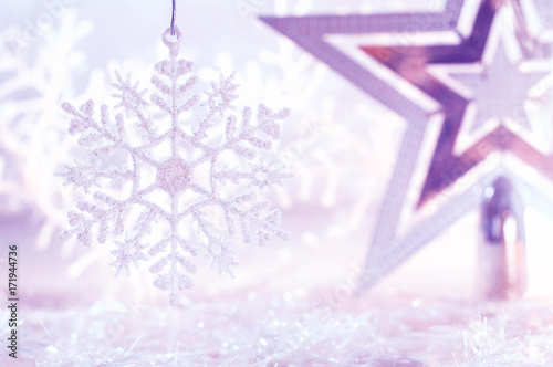 christmas star silver purple and white snowflake christmas and new year background