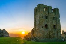 Scarborough Castle Sunset