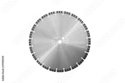 Fotografie, Obraz  Cutting disc with diamonds - Diamond disc for concrete isolated on the white bac