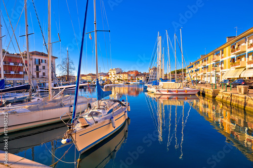Town of Grado colorful waterfront and harbor view Wallpaper Mural
