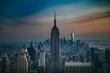 Downtown skyline dusk