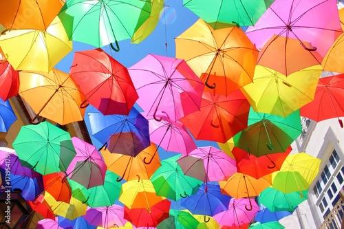 Foto  カラフルな傘 ポルトガル・アゲダ Agueda・Portugal