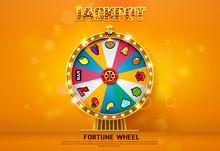 Fortune Wheel Spinning  On Bok...