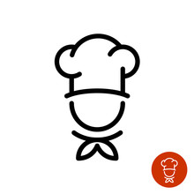 Chef In A Cooking Hat Outline ...