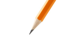 Yellow Pencil On A White Backg...