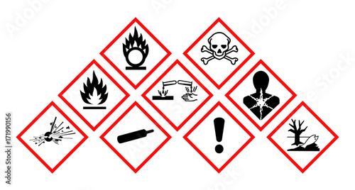 Fotografie, Obraz  Pictogrammes danger GHS.