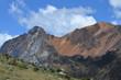 Oranger Berg in der Cordillera Huayhuash, Peru