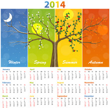 Calendar For 2014 Seasons. Ill...