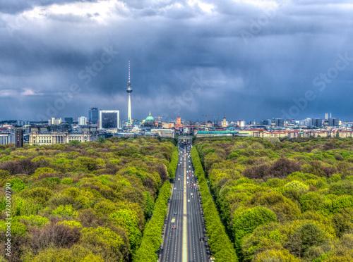 Zdjęcie XXL Berlin Skyline widziana z kolumny zwycięstwa