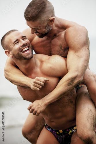 Fotografie, Obraz Gay Fitness Couple