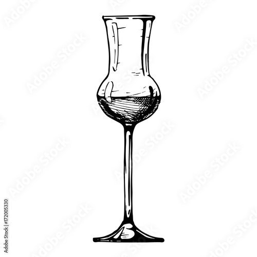 Photo illustration of Grappa glass