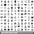 100 good job icons set, simple style