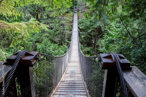 Canvas Prints Bridge Suspension bridge high above the forest floor