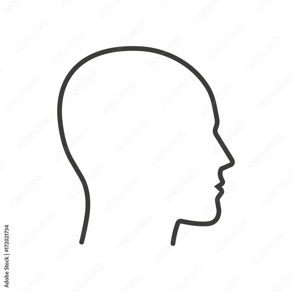 Fototapeta Head. Line. Vector. Isolated.