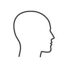 Head. Line. Vector. Isolated.