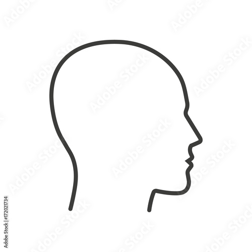 Fototapeta Head. Line. Vector. Isolated.