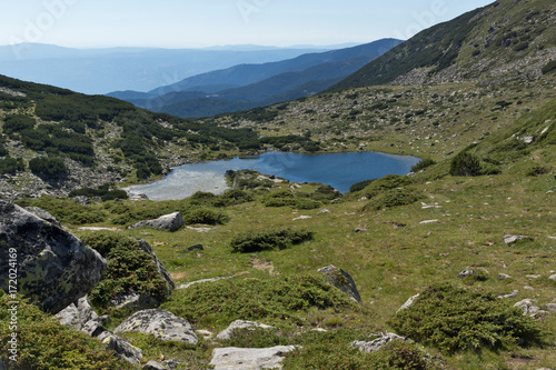 Spoed Foto op Canvas Grijze traf. Amazing landscape with Chairski lakes, Pirin Mountain, Bulgaria
