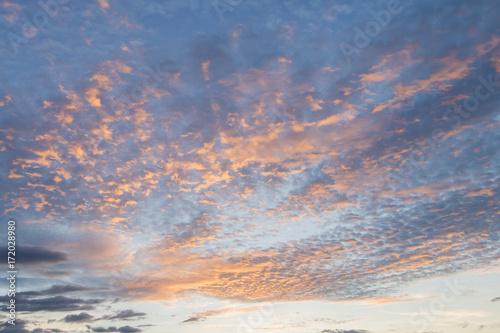 Printed kitchen splashbacks Cappuccino Cumulus sunset clouds