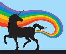 Unicorns Fart Rainbows Vector...