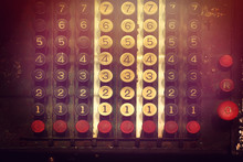Keypad Of Calculator Vintage. ...