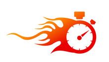 Speedometer. Abstract Symbol O...