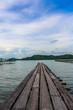 The bridge, sea ,Ocean,Blue sky,Cloud