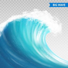 Big Wave On Transparent Backgr...