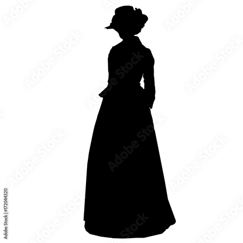 Photographie  Vintage attractive female silhouette in victorian style